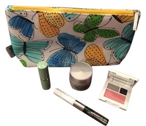 Clinique New Clinique cosmetic bag with cosmetic bundle