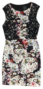 Adrianna Papell Lace Sheath Floral Sleeveless Dress