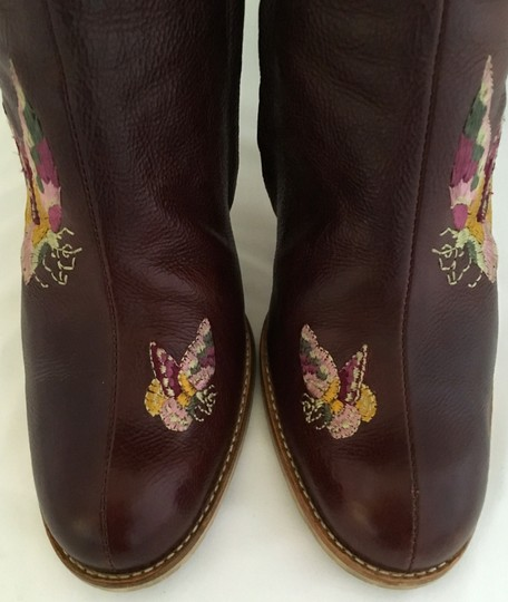 Dior Leather Midcalf Christian Cowboy Charms Brown Boots Image 2