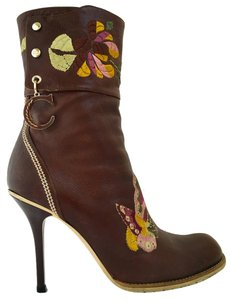 Dior Brown Leather Midcalf Boots