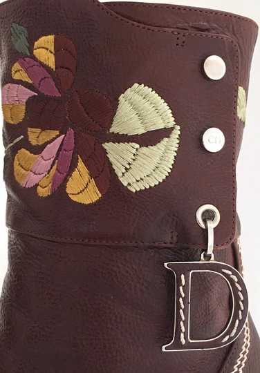 Dior Leather Midcalf Christian Cowboy Charms Brown Boots Image 7