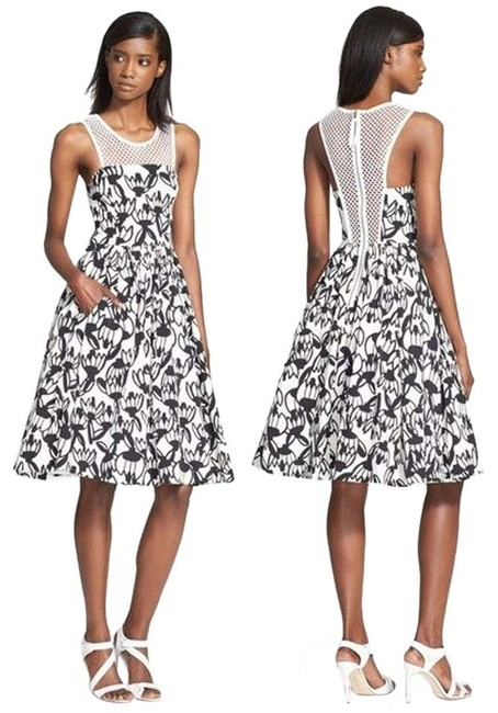 Preload https://img-static.tradesy.com/item/16057063/tracy-reese-black-and-white-mesh-yolk-fit-flare-knee-length-cocktail-dress-size-2-xs-0-1-650-650.jpg