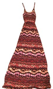 Black/pink/red Maxi Dress by Lush