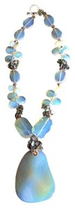 Other Sea opal glass statement necklace