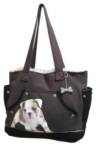 FUZZY NATION Tote in Brown and Black