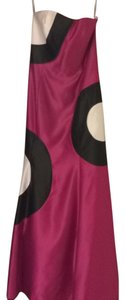 Pink, Black, And White Maxi Dress by Jessica McClintock