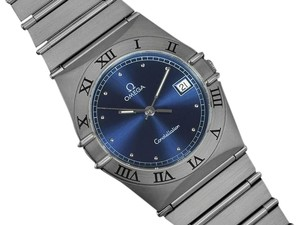 Omega Omega Constellation Mens 35mm Watch, Quartz, Date - Brushed Stainless Steel