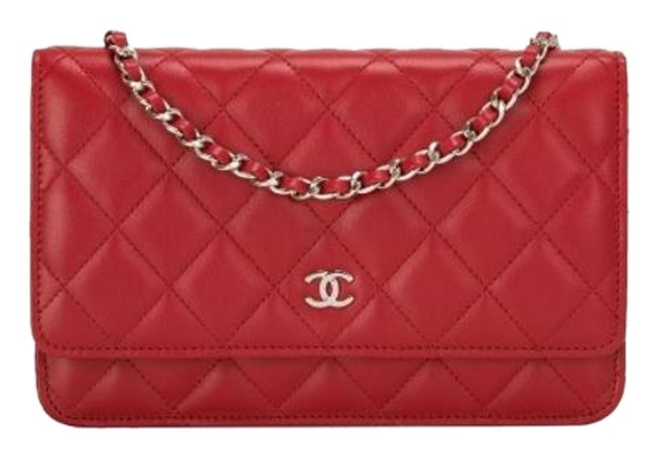 6a7ceaca255c Chanel Wallet On A Chain Woc Quilted Silver Hardware Shw Red ...
