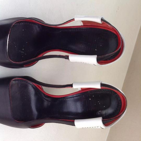 Givenchy Leather Open Toe red, black and white Sandals Image 4