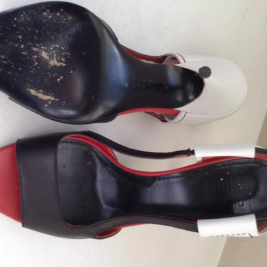 Givenchy Leather Open Toe red, black and white Sandals Image 5
