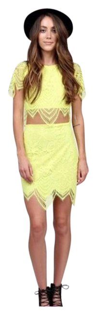 Preload https://img-static.tradesy.com/item/16058872/for-love-and-lemons-yellow-crop-top-and-mini-skirt-set-short-casual-dress-size-2-xs-0-4-650-650.jpg