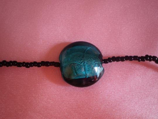 Other Multi-color lucite beads & black seed beads necklace