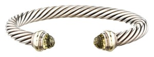David Yurman Sterling silver David Yurman lemon quartz cable classics cuff bracelet