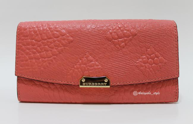 Item - Rose Pink Porter Mixed Embossed Pattern Continental Wallet