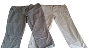 Old Navy Tall Classic Waist Capris 1st: Light Olive Green and 2nd: Khaki
