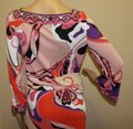 Emilio Pucci Square Neck Summer 3/4 Sleeve Abstract Print Dress Image 4