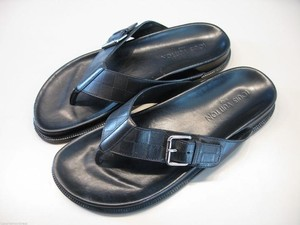 Louis Vuitton Thong Sandal Black Sandals