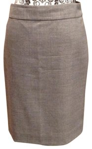 J.Crew Pencil Wool Skirt Grey