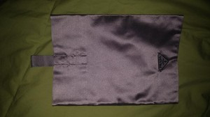 Prada Purple Satin Cosmetics Pouch - New