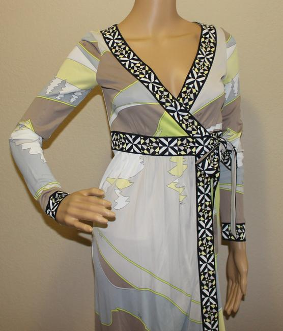 Emilio Pucci Summer Wrap Print Yellow Dress Image 1