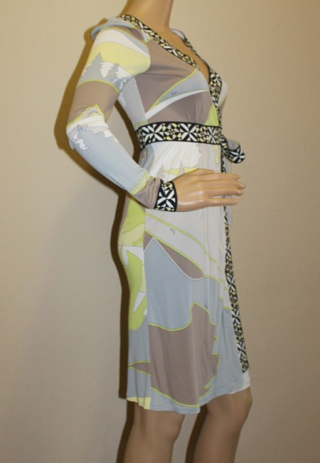 Emilio Pucci Summer Wrap Print Yellow Dress Image 2