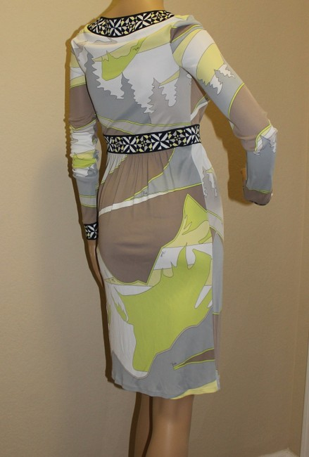 Emilio Pucci Summer Wrap Print Yellow Dress