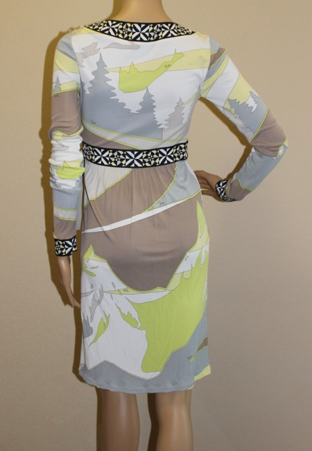 Emilio Pucci Summer Wrap Print Yellow Dress Image 4