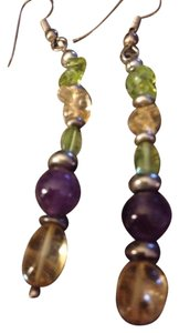9.2.5 Sterling Silver Multi Gemstones Earrings