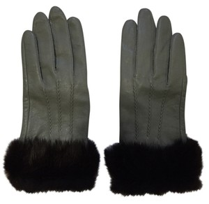 Goat Leather and Mink Fur gloves (medium)