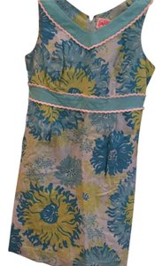 Lilly Pulitzer short dress Blue and green floral on Tradesy