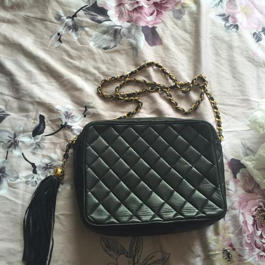 Chanel Camera Tassel Charm Quilted Lamb Skin Vintage Tote Flap Cross Body Bag Image 5