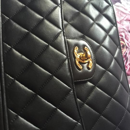 Chanel Camera Tassel Charm Quilted Lamb Skin Vintage Tote Flap Cross Body Bag Image 7