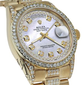 Rolex Rolex Presidential Day Date String Dial Diamond 18 KT Yellow Gold