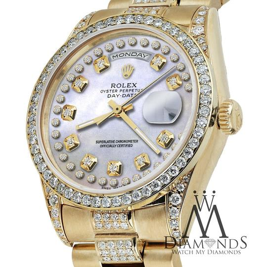 Rolex Rolex Presidential Day Date String Dial Diamond 18 KT Yellow Gold Image 1