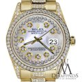 Rolex Rolex Presidential Day Date String Dial Diamond 18 KT Yellow Gold Image 2