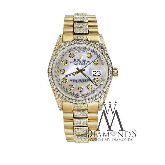 Rolex Rolex Presidential Day Date String Dial Diamond 18 KT Yellow Gold Image 5