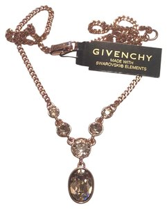 Givenchy Y-Necklace saworvski elements Rose Gold crystals necklace