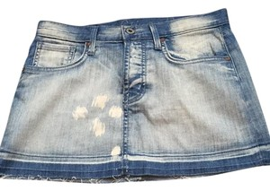 Chip and Pepper Mini Skirt Denim