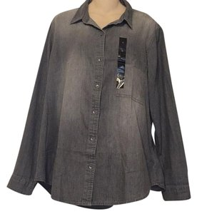 Banana Republic Button Down Shirt Gray