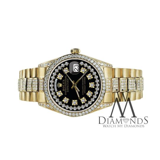 Rolex Rolex Presidential Day Date String Dial Diamond 18 KT Yellow Gold Image 3