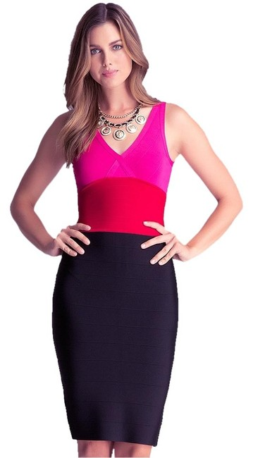 bebe Colorblock Date Bodycon Dress