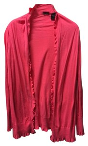 Moda International Ruffles Sweater Cardigan