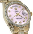 Rolex Rolex Presidential Day Date Tone Pink Dial Diamond 18 KT Yellow Gold Image 0