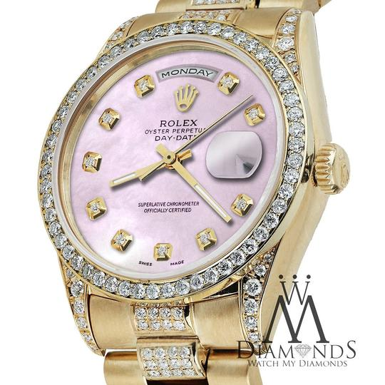 Rolex Rolex Presidential Day Date Tone Pink Dial Diamond 18 KT Yellow Gold Image 1