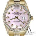 Rolex Rolex Presidential Day Date Tone Pink Dial Diamond 18 KT Yellow Gold Image 2