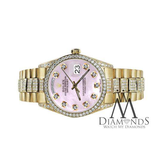 Rolex Rolex Presidential Day Date Tone Pink Dial Diamond 18 KT Yellow Gold Image 3