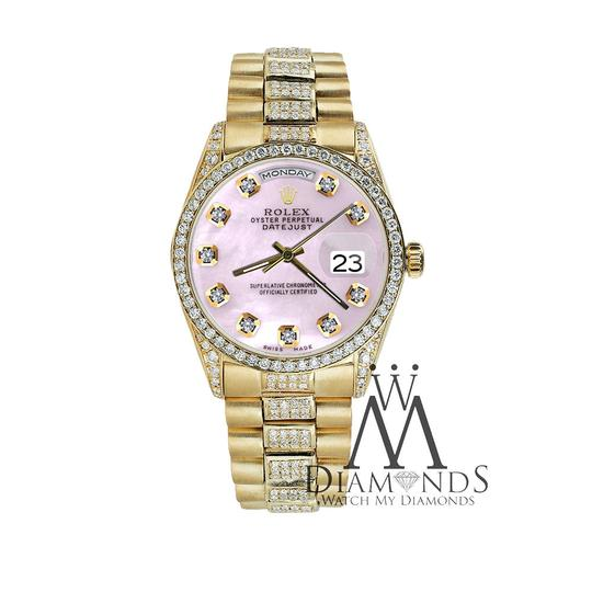 Rolex Rolex Presidential Day Date Tone Pink Dial Diamond 18 KT Yellow Gold Image 4