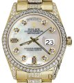 Rolex Rolex Yellow Gold Presidential Day Date Tone Dial Diamond 18 KT Gold Image 0