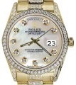 Rolex Rolex Yellow Gold Presidential Day Date White Dial Diamond 18 KT Gold Image 0