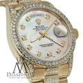 Rolex Rolex Yellow Gold Presidential Day Date White Dial Diamond 18 KT Gold Image 1